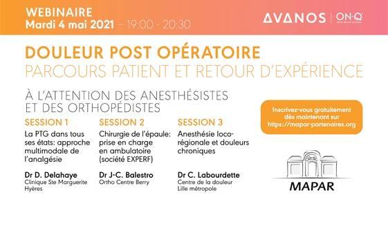 ANESTHÉSIE: Douleur post opératoire (À l'attention des anesthésistes et des orthopédistes)